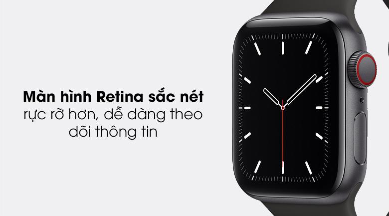 Apple Watch SE LTE 40mm viền nhôm dây cao su có màn hình sắc nét