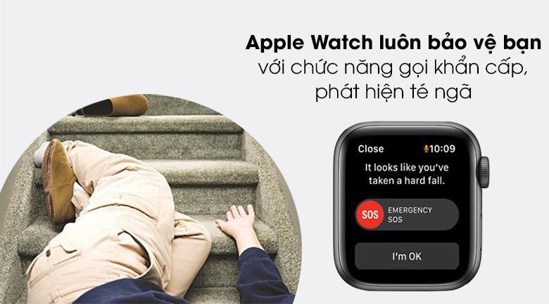 Apple Watch SE LTE 40mm viền nhôm dây cao su quan tâm đến an toàn của bạn
