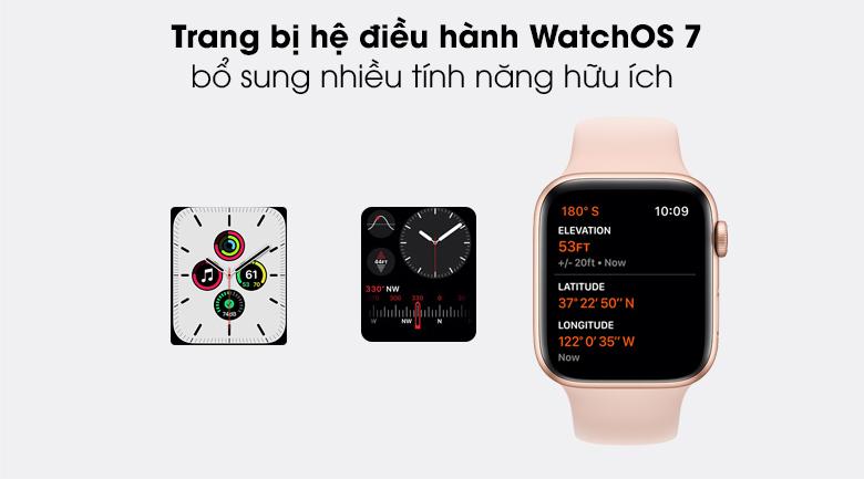Apple Watch SE 40mm xử dụng hệ điều hành watchOS 7.0 mang đến nhiều tính năng mới