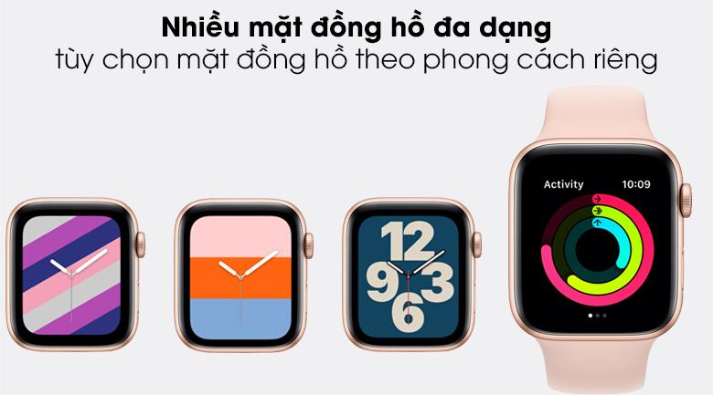 Apple Watch SE 40mm tích hợp bộ sưu tập mặt đồng hồ phong cách