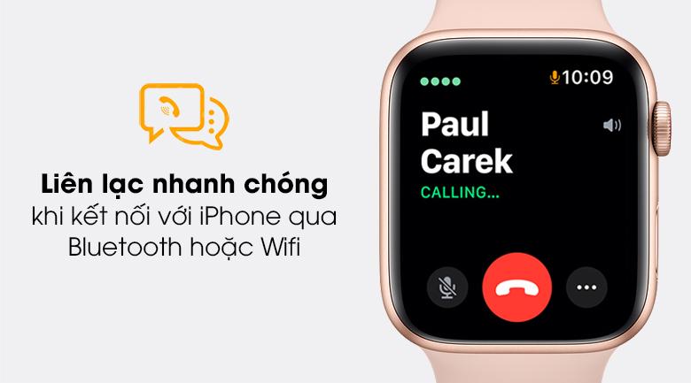 Apple Watch SE 40mm kết nối với điện thoại để nghe gọi dễ dàng hơn