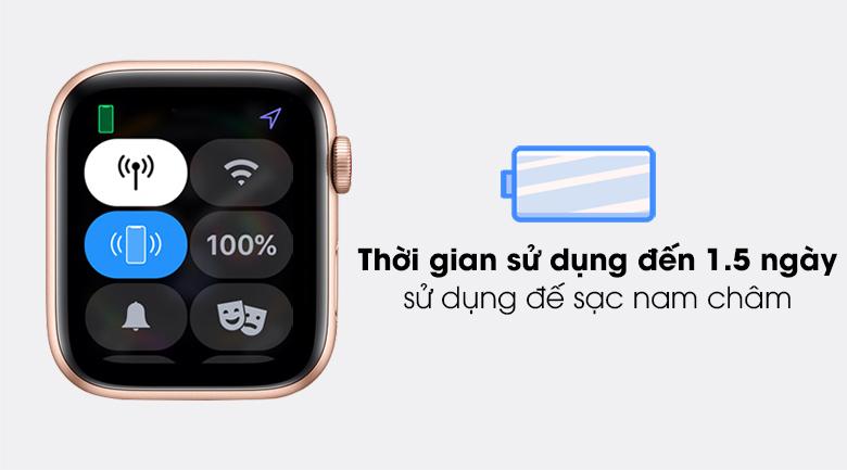 Apple Watch SE 40mm cho thời gian sử dụng lên đến 1.5 ngày