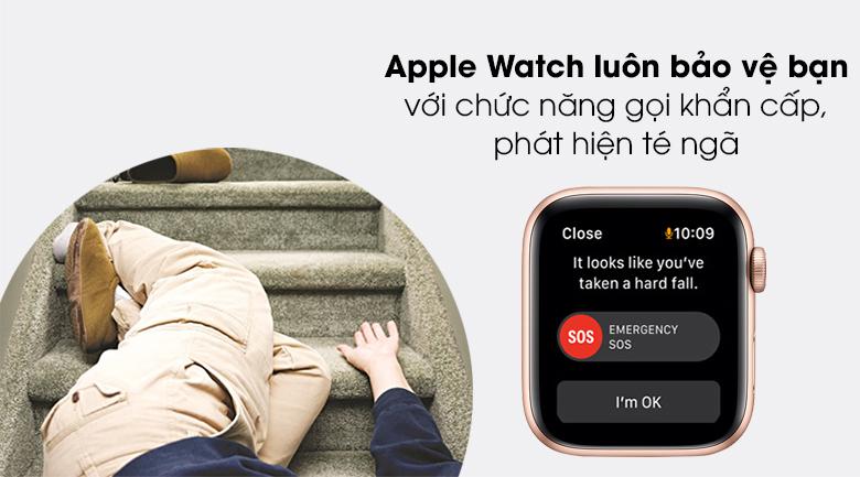Apple Watch SE 40mm sẽ gửi tín hiệu hỗ trợ khi phát hiện người dùng gặp sự cố té ngã