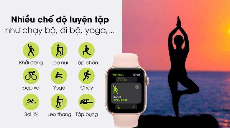 Apple Watch SE 40mm tích hợp nhiều bài tập thể thao nâng cao
