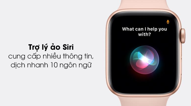 Apple Watch SE 40mm với trợ lý ảo Siri, hỗ trợ người dùng và tiết kiệm thời gian