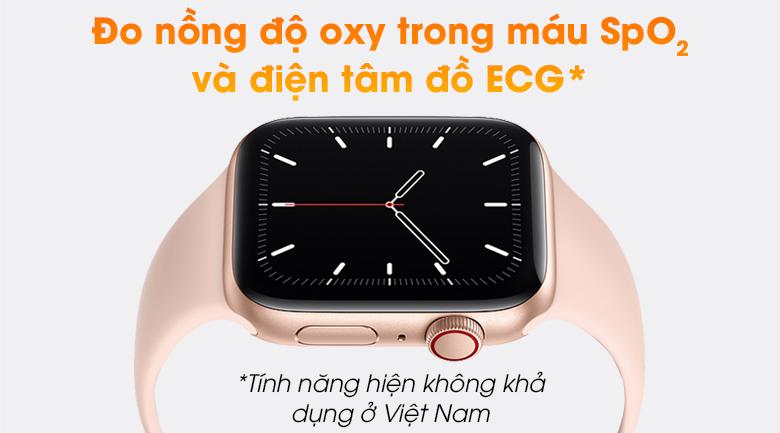 Apple Watch SE LTE 44mm viền nhôm dây cao su có cảm biến hiện đại