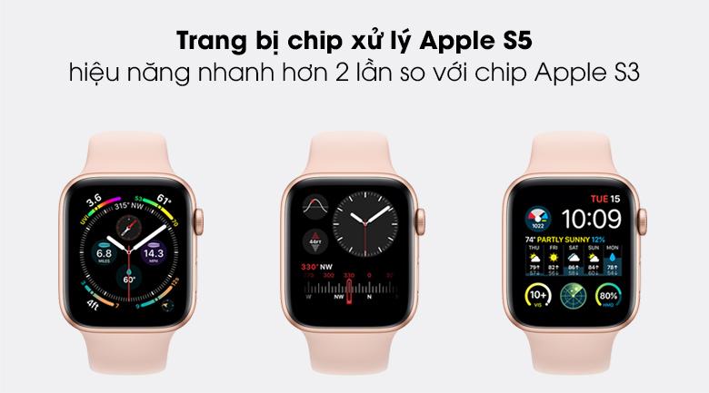 Apple Watch SE LTE 44mm viền nhôm dây cao su trang bị con chip mạnh mẽ