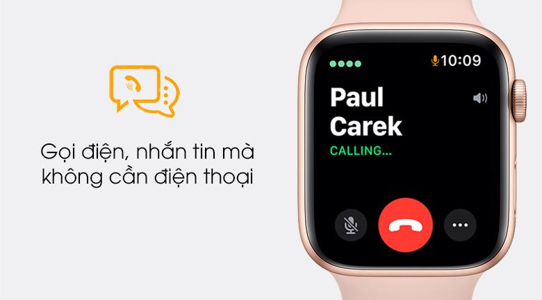 Apple Watch SE LTE 44mm viền nhôm dây cao su có thể nghe gọi trực tiếp