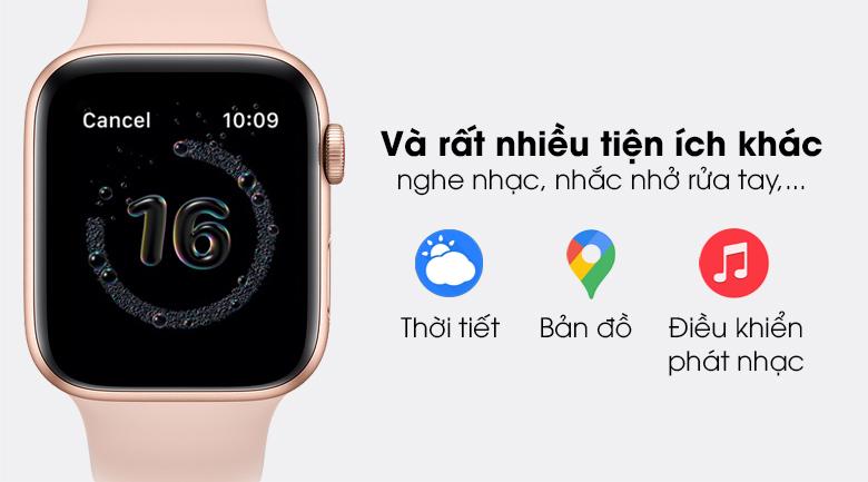 Apple Watch SE LTE 44mm viền nhôm dây cao su có thêm nhiều tính năng thú vị