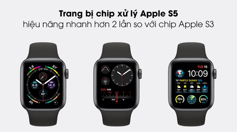 Apple Watch SE 44mm viền nhôm dây cao su sử dụng bộ chip xử lý S5