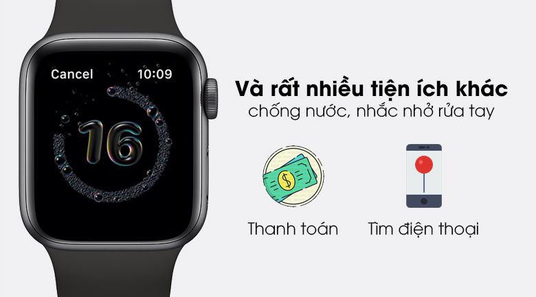 Apple Watch SE 44mm viền nhôm dây cao su còn nhiều tính năng khác