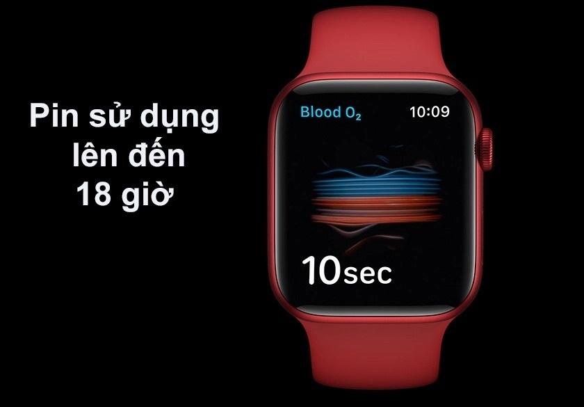 Pin sử dụng lên đến 18 giờ