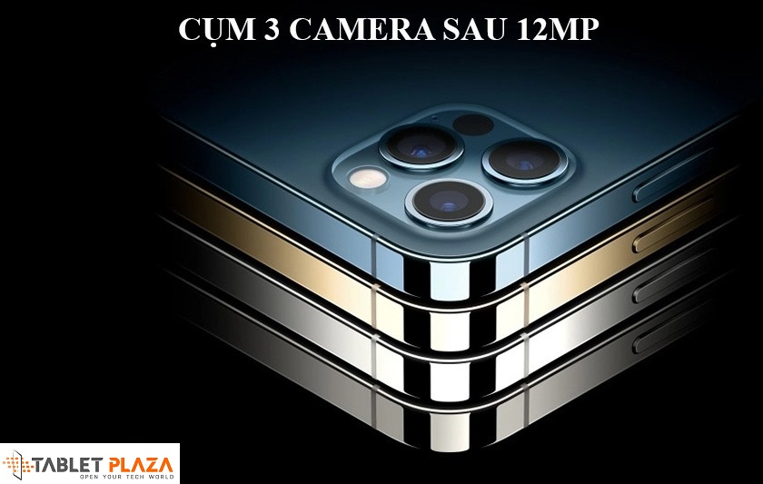 Cụm 3 camera sau với độ phân giải 12MP