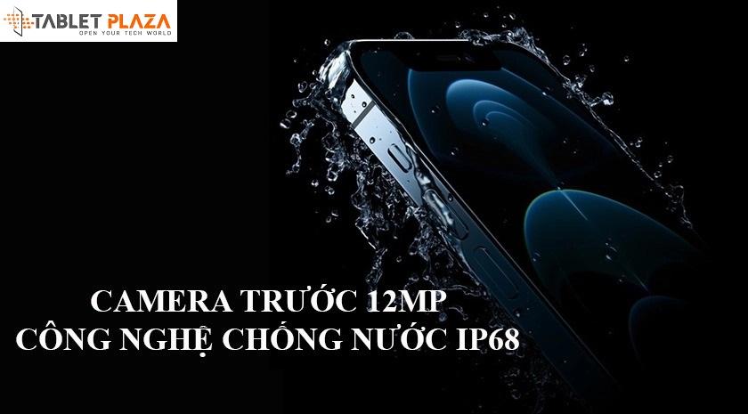 Camera trước 12MP hỗ trợ mở FaceiD cùng công nghệ chống nước IP68