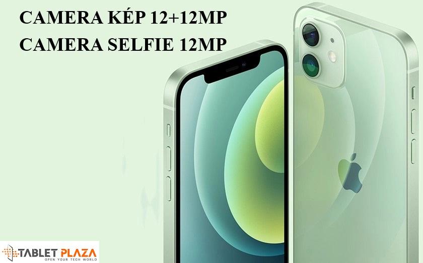 Camera kép 12+12MP ở mặt sau, camera selfie 12MP ở mặt trước